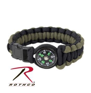 Rothco Paracord Compass Bracelet