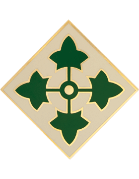 Military 4th Infantry Division Combat Service Identification Badge