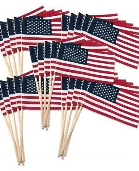 4 x 6 USA Stick Flags (Wood Stick)