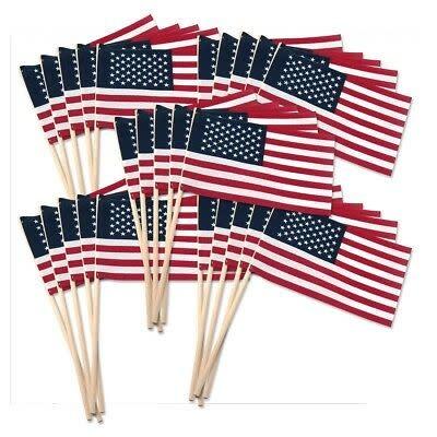Ramsons Imports 4 x 6 USA Stick Flags (Wood Stick)