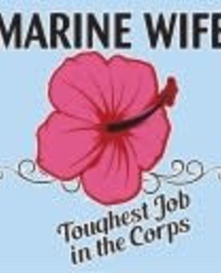 "Marine Wife ""Toughest Job"" Window Decal"