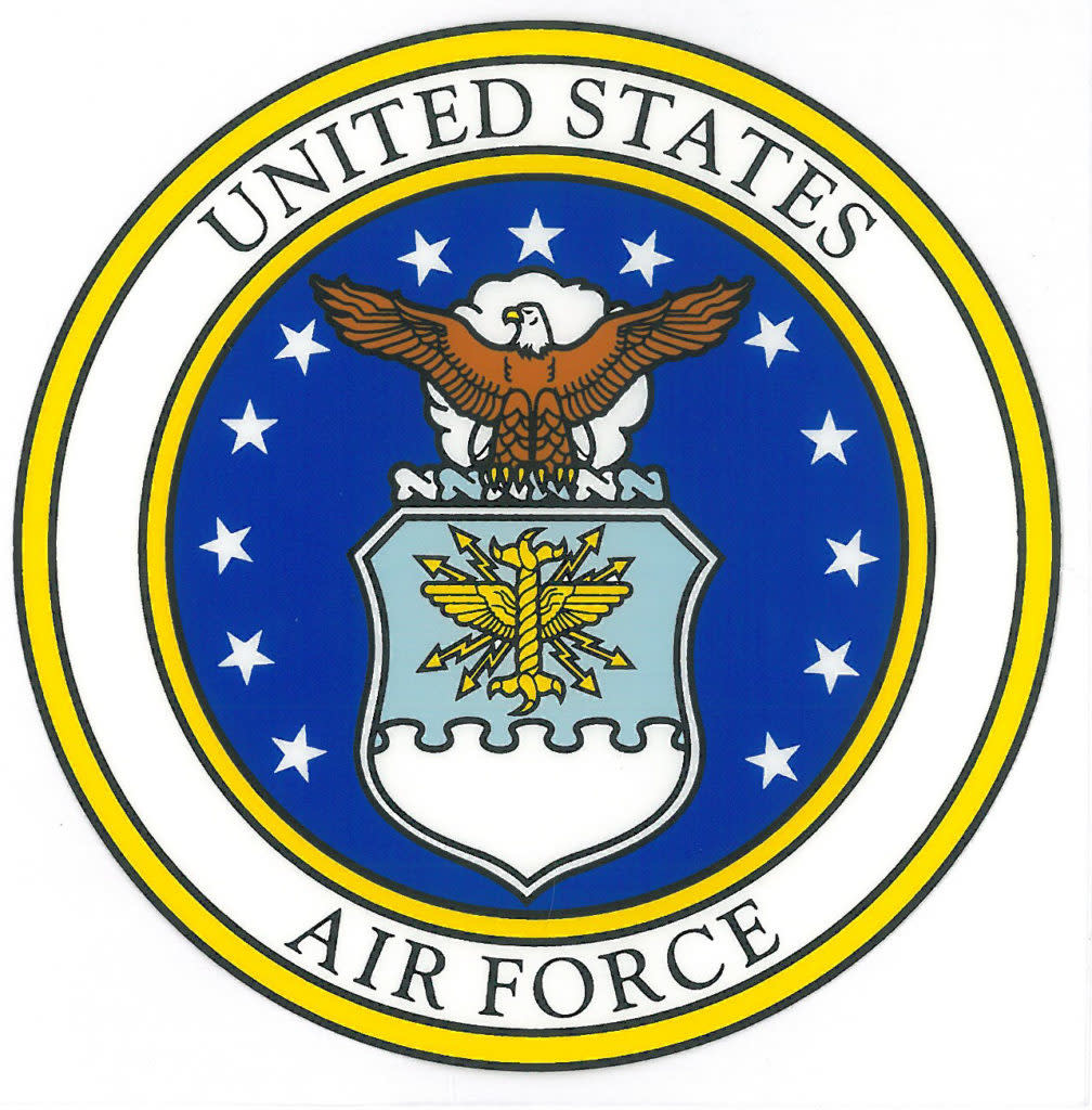 Mitchell Proffitt US Air Force Seal Sticker