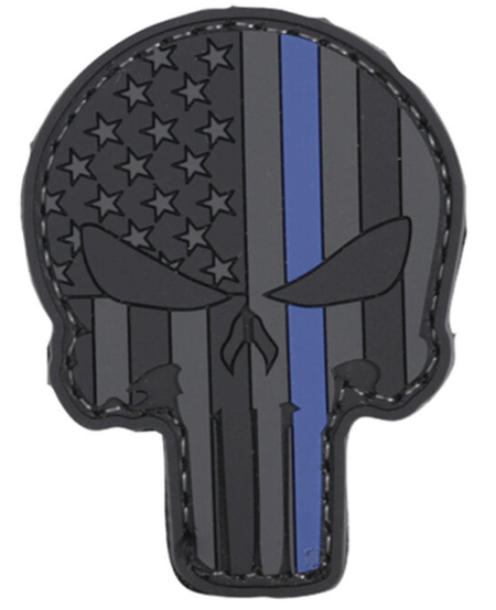 Blue Line Punisher Patch