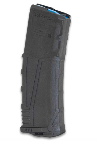 AR-15 30-ROUND .223/5.56 BLACK MAGAZINE - POLYMER CONSTRUCTION, REMOVABLE FLARED FLOOR PLATE, GRIP TEXTURING, MADE IN USA