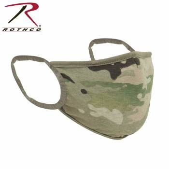 Rothco Reversible Reusable 3-Layer Face Mask - Multicam/Coyote