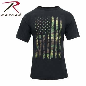 Rothco Camo US Flag T-Shirt