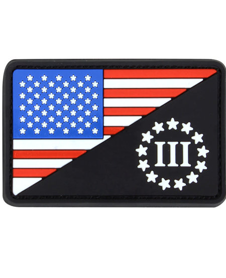 US Flag 3 Percenter Morale Patch