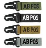 VooDoo Tactical AB Postive Blood Type Tag