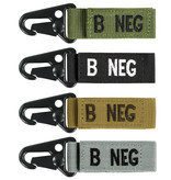 VooDoo Tactical B Negative Blood Type Tag