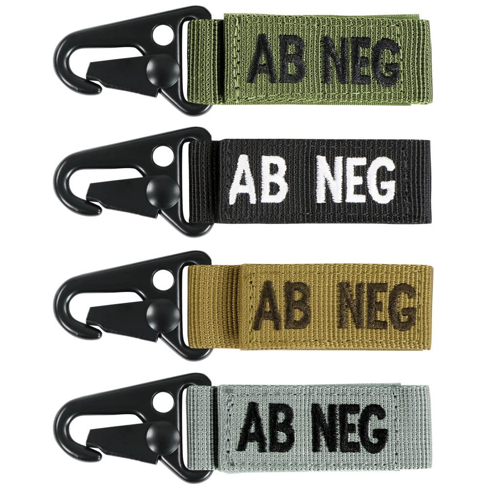 VooDoo Tactical AB Negative Blood Type Tag