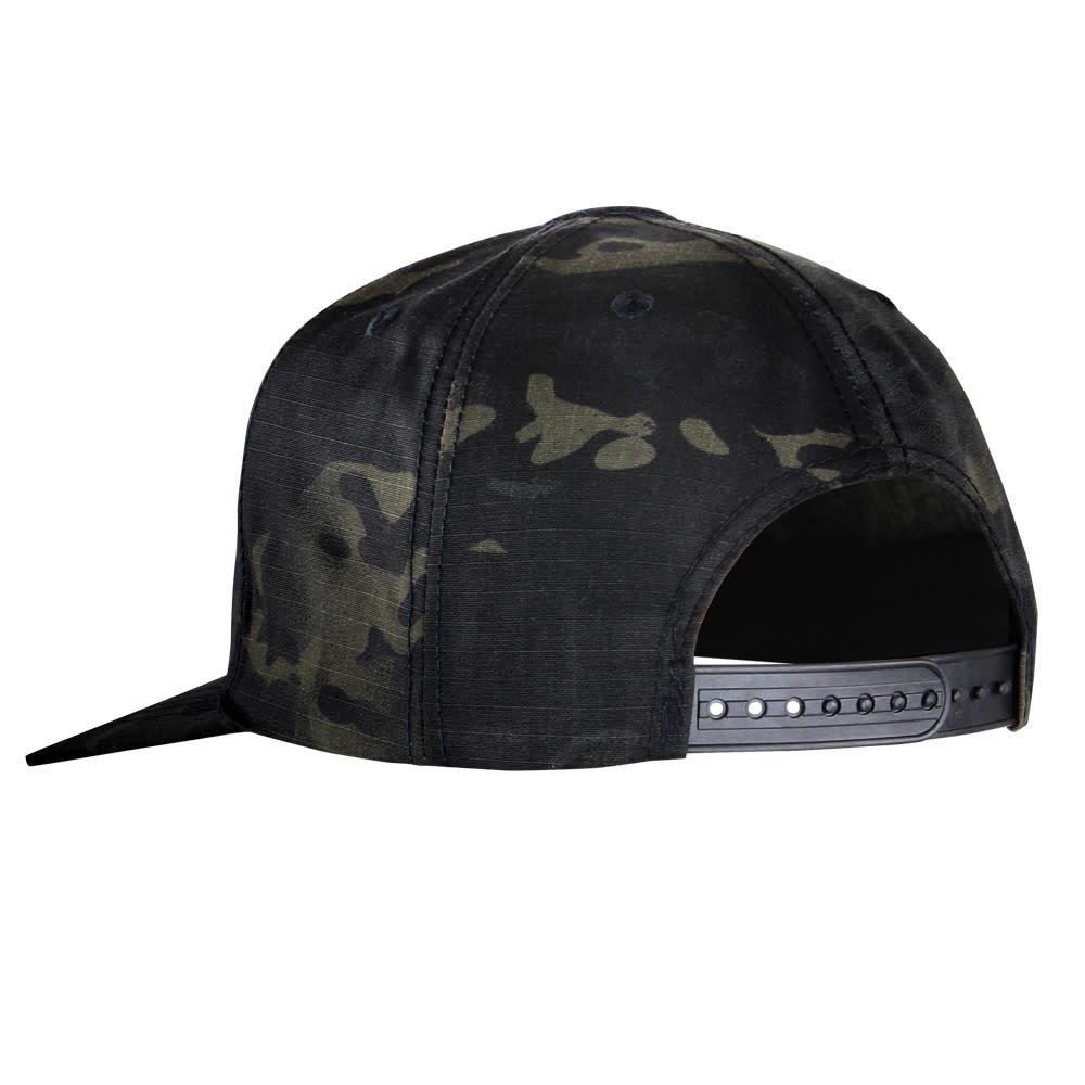 Condor Flat Bill Snapback Hat - Multicam Black