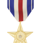 Military Silver Star Full Size Medal Anodized
