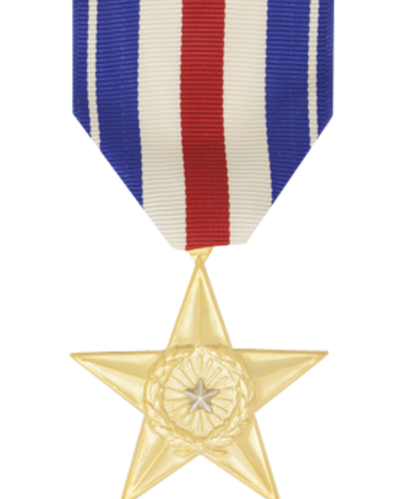 Silver Star Full Size Medal Anodized