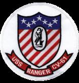"Military USS Ranger CV-61 5"" Patch"
