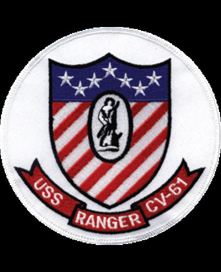 """USS Ranger CV-61 5"""" Patch"""