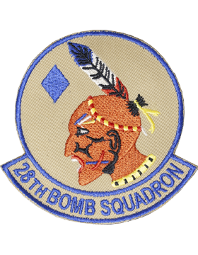 Military 28th Bomb Squadron (Bat Bone) Patch