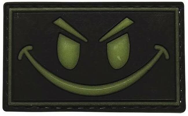 5ive Star Gear Glow in the Dark Smile PVC Patch