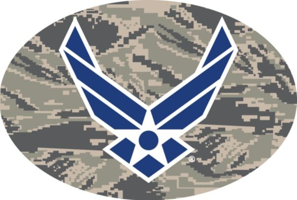 Mitchell Proffitt Air Force Symbol on ABU Camo Oval Magnet