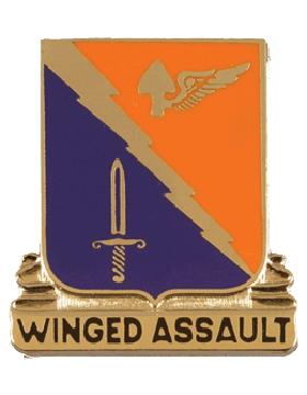 No Shine Insignia 229th Aviation Batallion Unit Crest (Winged Assault)