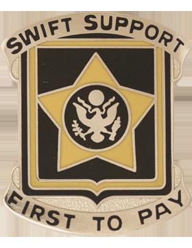 No Shine Insignia 15th Finance Batallion Unit Crest (Swift Support)