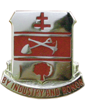 No Shine Insignia 317th Engineer Batallion Unit Crest (By Industry and Honor)