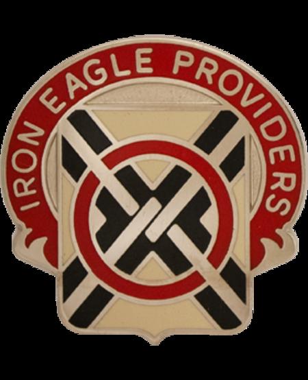 404th Support Battalion Unit Crest (Iron Eagle Providers)