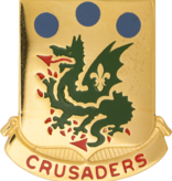 Military 72nd Armor Unit Crest (Crusaders)