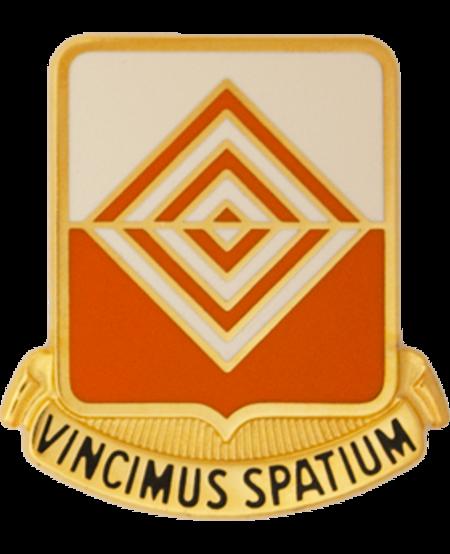 57th Signal Battalion Unit Crest (Vincimus Spatium)