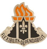 Military 11th Signal Brigade Unit Crest (Flexibility Dependability)