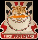 Military 86th Signal Brigade Unti Crest (First Voice Heard)