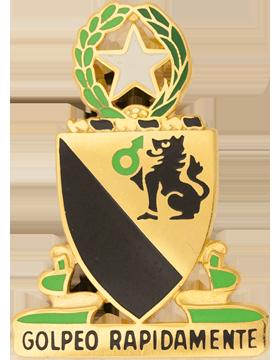 Military 124 Cavalry Unit Crest (Golpeo Rapidamente)