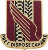 No Shine Insignia 38th Support Battalion Unit Crest (Pret Dispose Capable)