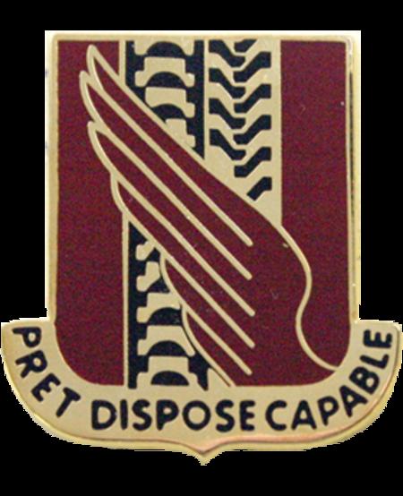 38th Support Battalion Unit Crest (Pret Dispose Capable)