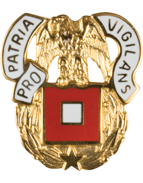 No Shine Insignia Regimental Crest Signal (Pro Patria Vigilans)