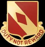No Shine Insignia 20th Field Artillery Unit Crest (Duty Not Reward)