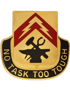 No Shine Insignia 215th Support Battalion Unit Crest (No Task Too Tough)