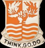 Military 504th Signal Battalion Unit Crest (Think Go Do)