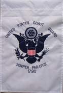 Coast Guard Embroidered Garden Flag 12 x 18