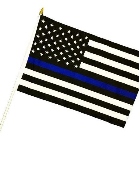 Thin Blue Line 12 x 18 Stick Flag