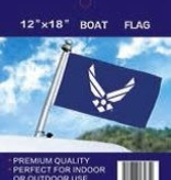 """2 Side Embroidered Boat Flag 12"""" x 18"""""""