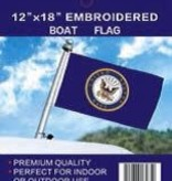 "24/7 Tru Spec 2 Side Embroidered Boat Flag 12"" x 18"""