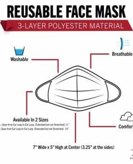 Camo 3 Layer Polyester Face Mask