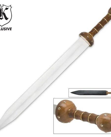 Roman Gladiator Spartan Gladius Sword and Sheath