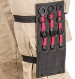9 Piece Black and Red Throwing Knife Set