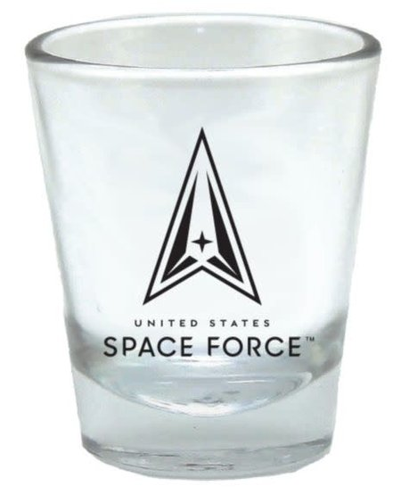 United States Space Force Clear 2oz Shot Glass