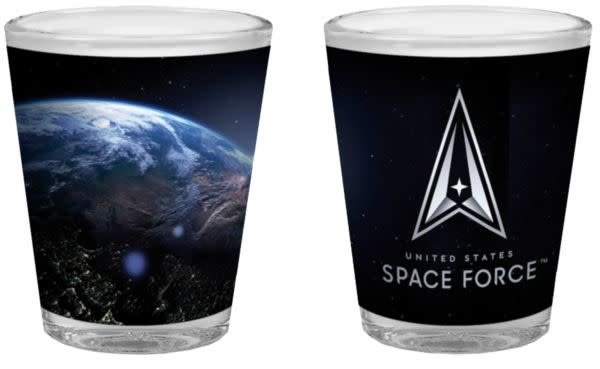 Mitchell Proffitt United States Space Force Sublimation 2oz Shot Glass