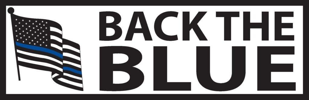 Mitchell Proffitt Back the Blue Bumper Sticker