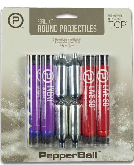 PepperBall TCP Round Projectile Refill Kit - Live SD Rounds, Inert Rounds, CO2 Cartridges