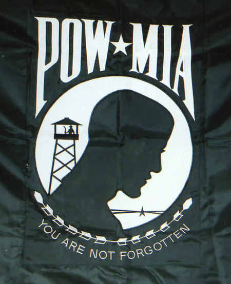 POW/MIA Embroidered Flag 3 x 5 - Both Sides Embroidered