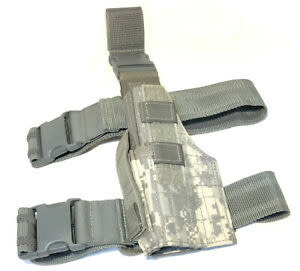 Military Government Issued Drop Leg ACU Universal HOlster - Used